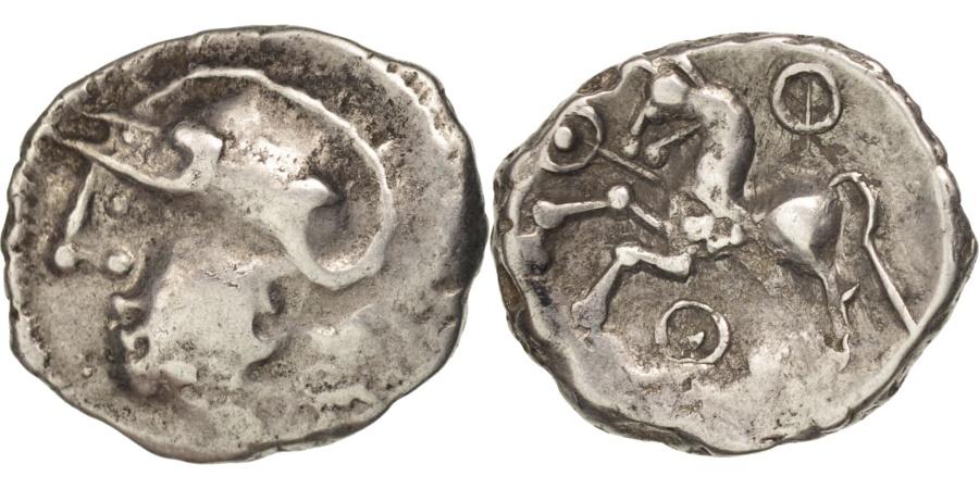 Ancient Coins - Aedui, Quinarius, , Silver, Delestrée:3189