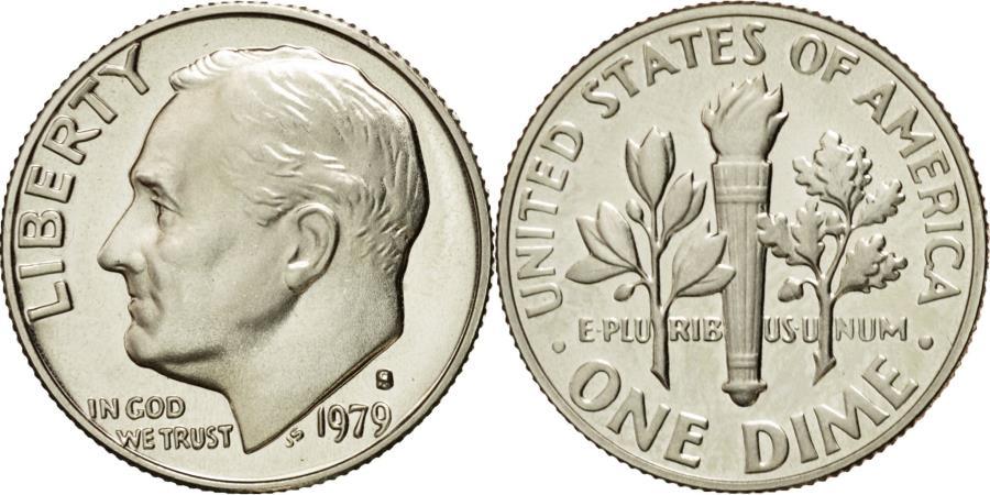 US Coins - Coin, United States, Roosevelt Dime, Dime, 1979, U.S. Mint, San Francisco
