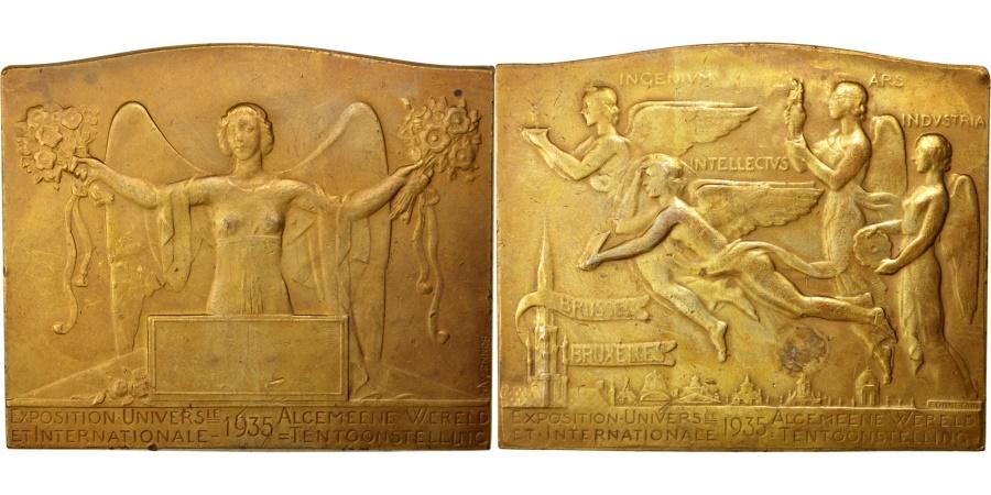 World Coins - Belgium, Sciences & Technologies, Medal, 1935, , Bronze, 67, 185.10