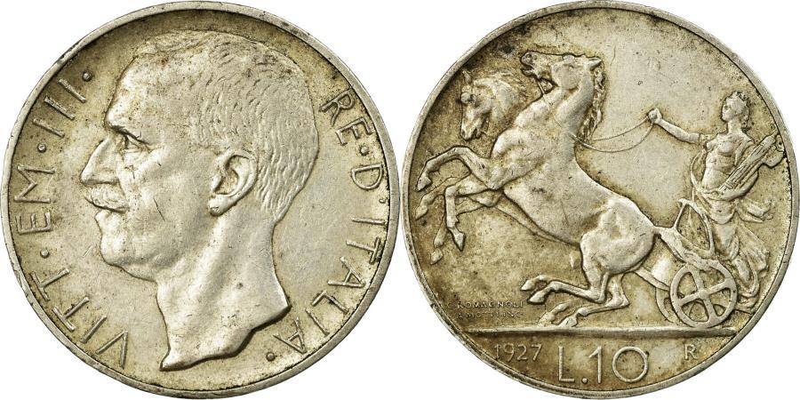 World Coins - Coin, Italy, Vittorio Emanuele III, 10 Lire, 1927, Rome, , Silver