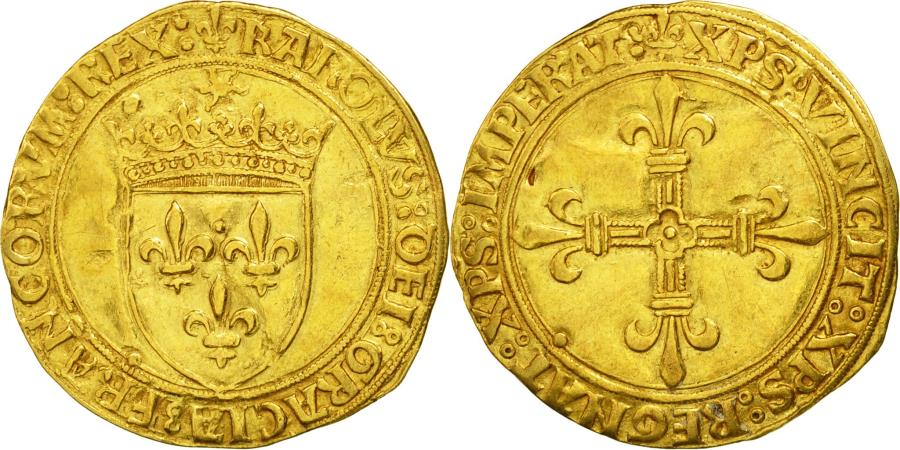 World Coins - Coin, France, Charles VIII, Ecu d'or, Paris, EF(40-45), Gold, Duplessy:575A