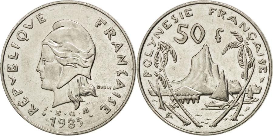 World Coins - FRENCH POLYNESIA, 50 Francs, 1985, Paris, KM #13, , Nickel, 33,...