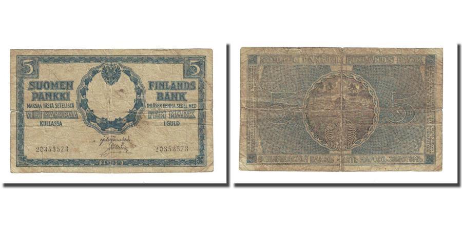 World Coins - Banknote, Finland, 5 Markkaa, 1909, KM:20, VG(8-10)