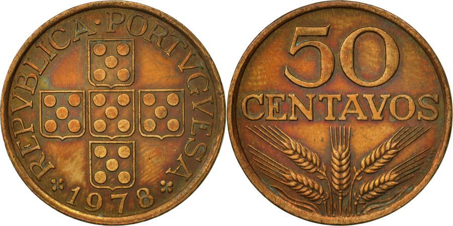 World Coins - Portugal, 50 Centavos, 1978, , Bronze, KM:596