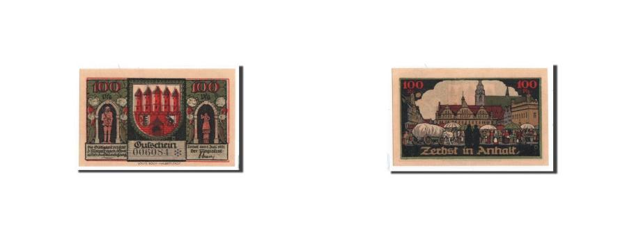 World Coins - Germany, Zerbst, 100 Pfennig, place, 1921-07-01, UNC(65-70), Mehl:1469.2