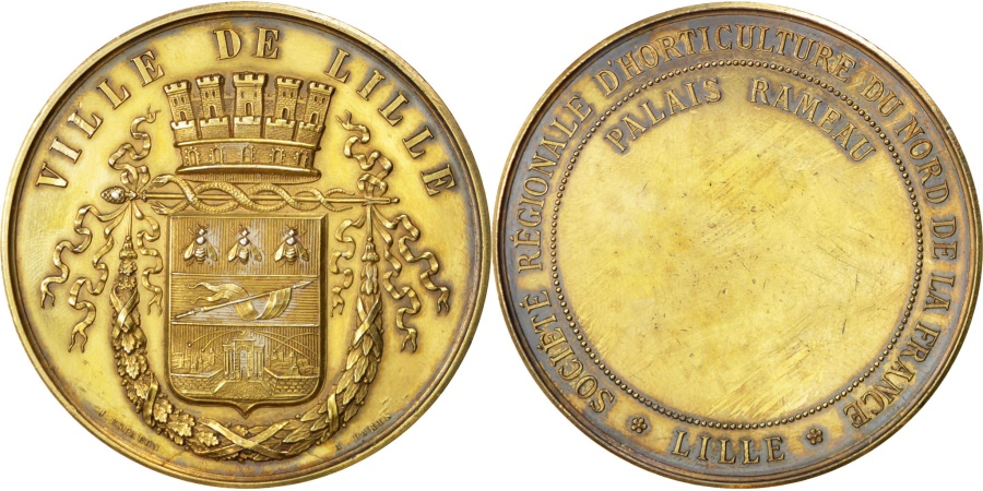 World Coins - FRANCE, Flora, French Third Republic, Medal, , Silver, 49, 66.20