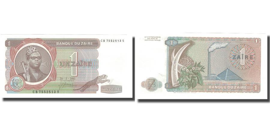 World Coins - Banknote, Zaire, 1 Zaïre, 1981, 1981-05-20, KM:19b, UNC(65-70)