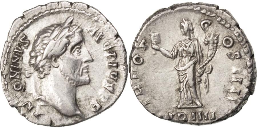 Ancient Coins - Antoninus Pius, Denarius, , Silver, Cohen #491, 3.30