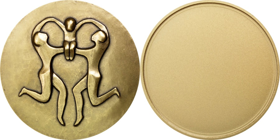 World Coins - FRANCE, Arts & Culture, The Fifth Republic, Medal, , Bronze, 47, 100.00