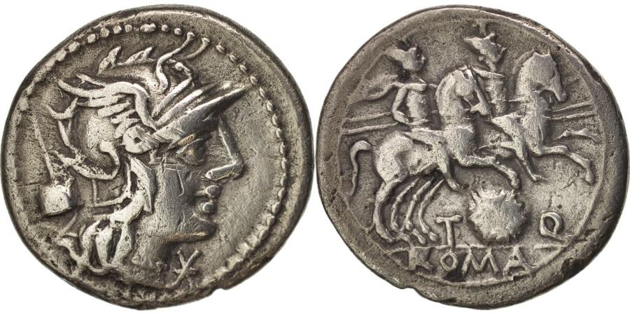 Ancient Coins - Quinctia, Denarius, 126 BC, Roma, , Silver, Sear:143
