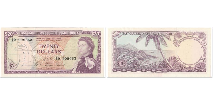 World Coins - Banknote, East Caribbean States, 20 Dollars, 1965, Undated (1965), KM:15g