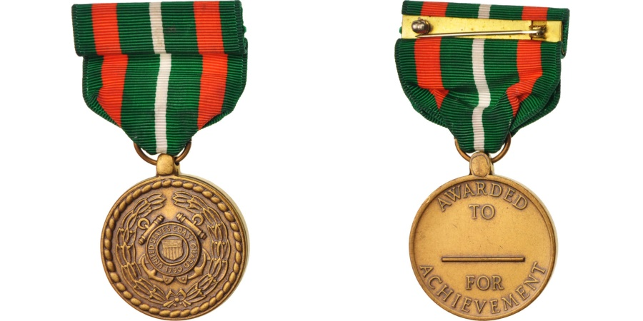 World Coins - United-States, Coast Guard Achievement Medal, Medal, Excellent Quality, Bronze