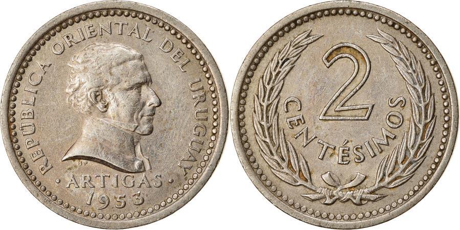 World Coins - Coin, Uruguay, 2 Centesimos, 1953, , Copper-nickel, KM:33
