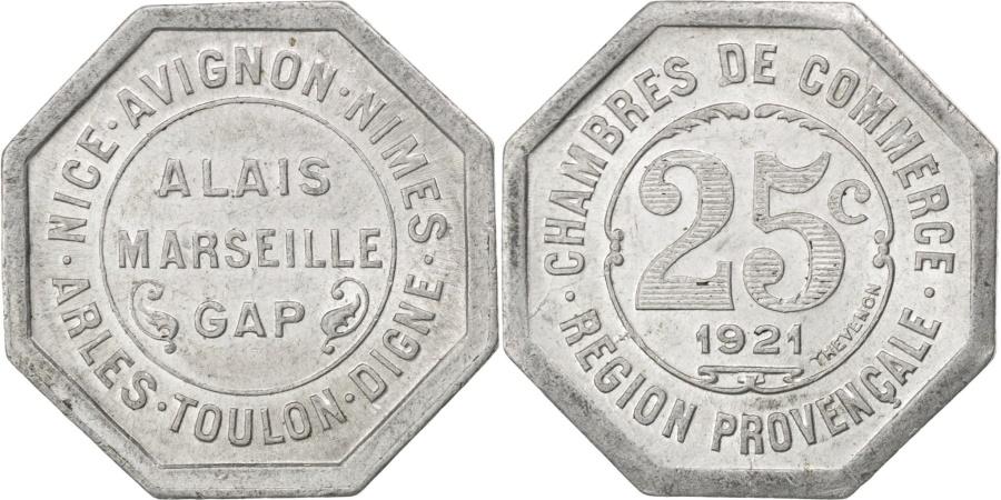World Coins - France, 25 Centimes, 1921, , Aluminium, Elie #10.8, 1.44