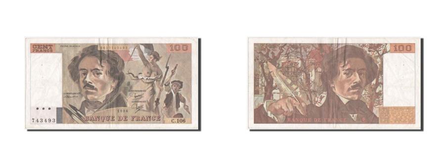 World Coins - France, 100 Francs, 100 F 1978-1995 ''Delacroix'', 1986, KM #154b, EF(40-45),...