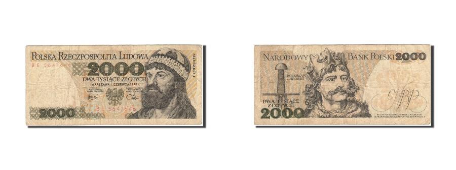 World Coins - Poland, 2000 Zlotych, 1977, 1979-06-01, KM:147b, VG(8-10)