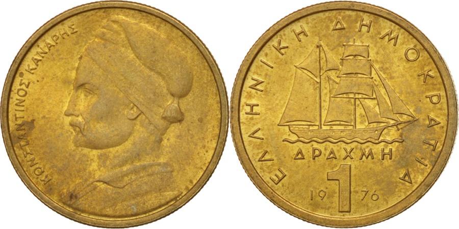World Coins - Greece, Drachma, 1976, Athens, , Nickel-brass, KM:116