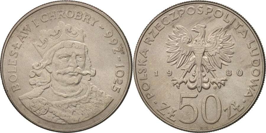 World Coins - Poland, 50 Zlotych, 1980, Warsaw, , Copper-nickel, KM:114