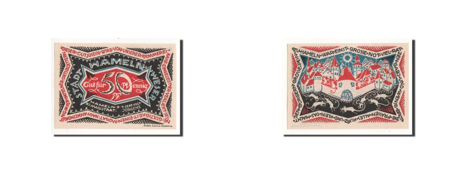 World Coins - Germany, Hameln, 50 Pfennig, paysage, 1921-09-01, UNC(65-70), Mehl:566.a