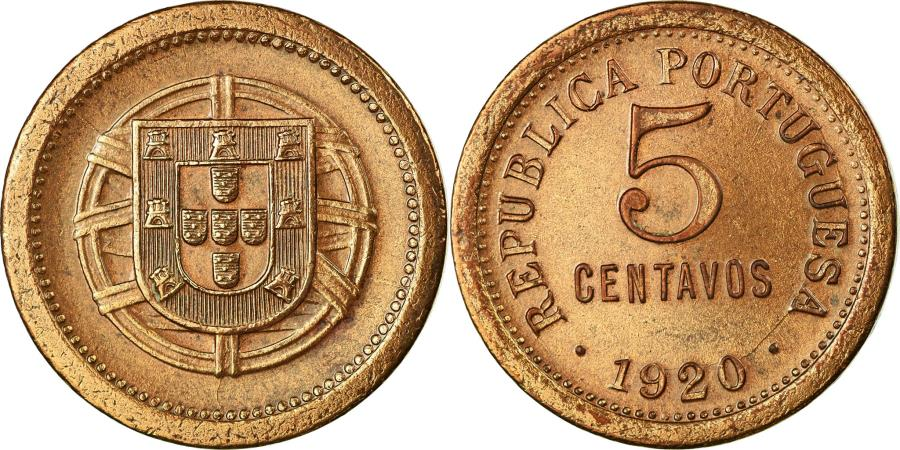 World Coins - Coin, Portugal, 5 Centavos, 1920, , Bronze, KM:569