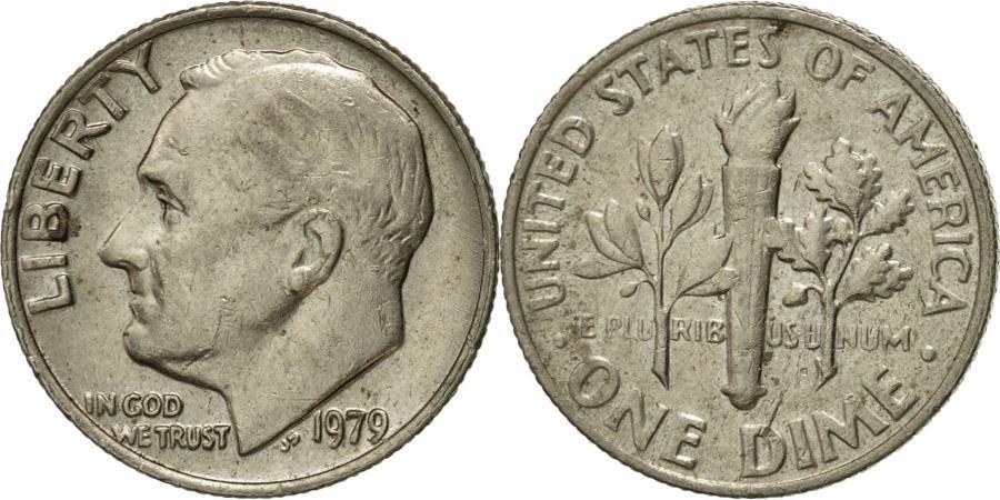 US Coins - Coin, United States, Roosevelt Dime, Dime, 1979, U.S. Mint, Philadelphia