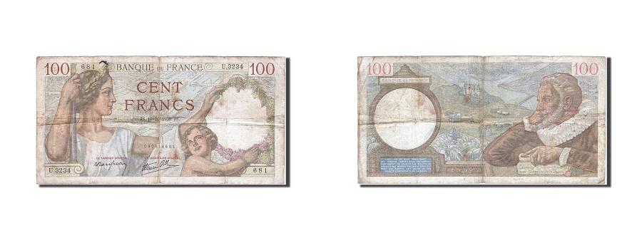 World Coins - France, 100 Francs, 100 F 1939-1942 ''Sully'', 1939, KM #94, 1939-10-19,...