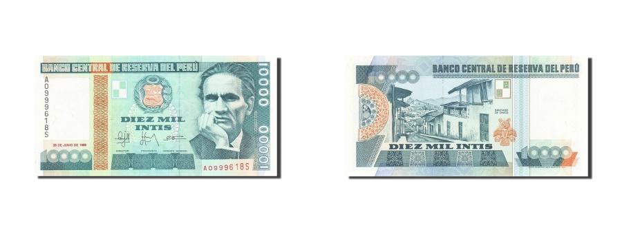 World Coins - Peru, 10,000 Intis, 1985-1991, KM:141, 1988-06-28, UNC(63)