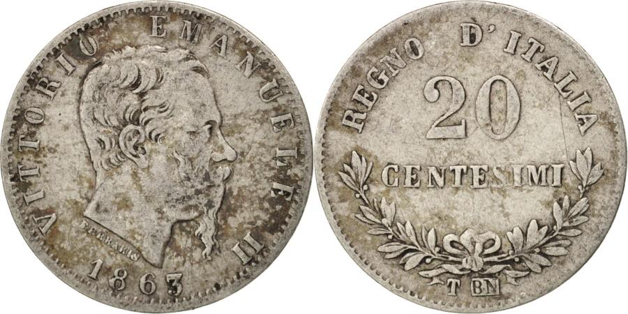 Italy vittorio emanuele ii 20 centesimi 1863 torino for Coin torino