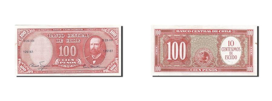 World Coins - Chile, 10 Centesimos on 100 Pesos, 1958, KM #127a, AU(55-58), 126161