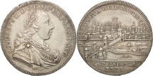 World Coins - German States, REGENSBURG, Thaler, 1775, Regensburg, AU(50-53), Silver, KM:428