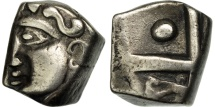 Ancient Coins - Petrocores / Nitiobroges, Drachm au style flamboyant, EF(40-45), Silver