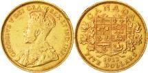 World Coins - Canada, George V, 5 Dollars, 1912, Royal Canadian Mint, Ottawa, AU(55-58), Gold
