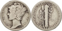 Us Coins - United States, Mercury Dime, Dime, 1928, U.S. Mint, San Francisco, VF(20-25)