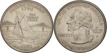 Us Coins - United States, Quarter, 2001, U.S. Mint, Philadelphia, AU(55-58), KM 320