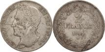 World Coins - Belgium, Leopold I, 2 Francs, 2 Frank, 1844, F(12-15), Silver, KM:9.2