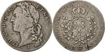 World Coins - France, Louis XV, 1/2 Écu au bandeau, 44 Sols, 1748, Lille, VF(20-25),KM516.21