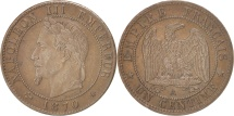 World Coins - France, Napoléon III, Centime, 1870, Paris, EF(40-45), Bronze, KM:795.1
