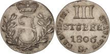 World Coins - German States, BERG, Joachim Murat, 3 Stüber, 1806, D, MS(60-62), Silver, KM:10