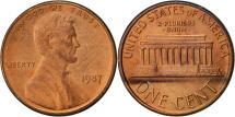 Us Coins - United States, Lincoln Cent, Cent, 1987, U.S. Mint, Philadelphia, EF(40-45)