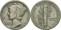 Us Coins - United States, Mercury Dime, Dime, 1937, U.S. Mint, Philadelphia, AU(55-58)