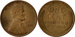 Us Coins - Coin, United States, Lincoln Cent, Cent, 1951, U.S. Mint, Philadelphia