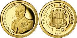 World Coins - Coin, Andorra, Napoléon Bonaparte, Diner, 2011, , Gold
