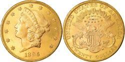 Coin, United States, $20, Double Eagle, 1896, Philadelphia, , Gold