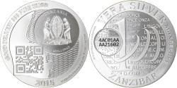 World Coins - Coin, Tanzania, Zanzibar, 1000 Shillings, 1 Vera Silver Oz, 2015,
