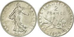 World Coins - Coin, France, Semeuse, 2 Francs, 1899, Paris, , Silver, KM:845.1