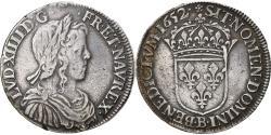 World Coins - Coin, France, Louis XIV, 1/2 Écu à la mèche longue, 1652, Rouen,