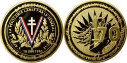 Us Coins - France, Medal, L'Appel à la Résistance, 18 Juin 1940, MS(64), Copper Gilt
