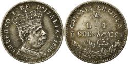 World Coins - Coin, Eritrea, Umberto I, Lira, 1890, Rome, , Silver, KM:2