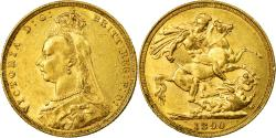 World Coins - Coin, Australia, Victoria, Sovereign, 1890, Melbourne, , Gold, KM:10
