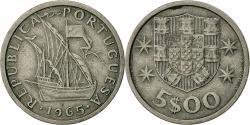 World Coins - Portugal, 5 Escudos, 1965, , Copper-nickel, KM:591